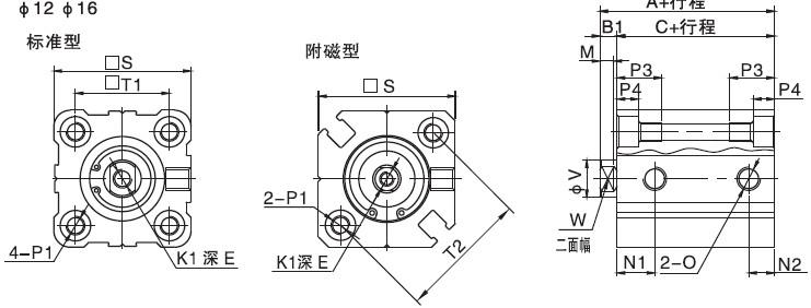 电路图中气缸符号