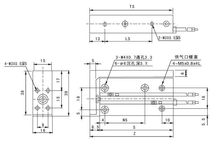 mxu滑台气缸_其它特殊型气缸图片