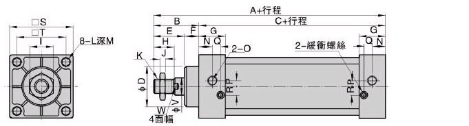 气缸符号接线图